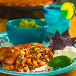 Smoked Chicken Enchilada Pie