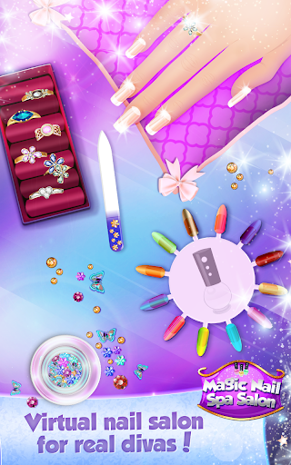 Download magic nail spa salon manicure game for pc for A nail salon game