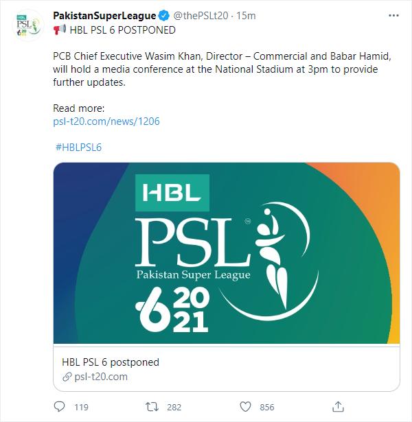 The PSL 6 postpone news