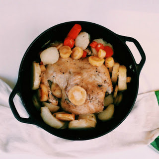 Oven Roasted Chicken in Immunity Boosting Broth