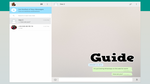 Guide for WhatsApp on tablet for PC
