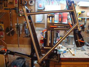 Photo: It's starting to look like a frame...  Still need to miter the chainstays and start working on the sleeved seat stays, but that'll be next week!