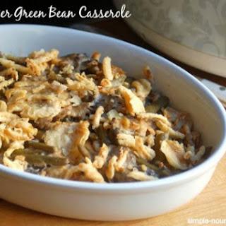 Slow Cooker Green Bean Casserole.