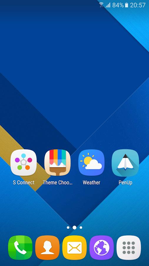Theme - Galaxy S7- tangkapan layar
