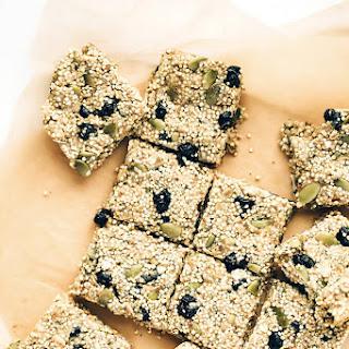 Chewy Vegan Blueberry Millet-Quinoa Snack Bars.