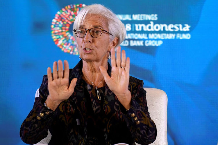 International Monetary Fund MD Christine Lagarde at the 2018 IMF World Bank Group annual meeting at Nusa Dua in Bali, Indonesia, on October 9 2018. Picture: ANTARA FOTO/PUSPA PERWITASARI/VIA REUTERS