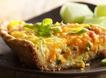 Ham, Pineapple & Cheddar Quiche Recipe