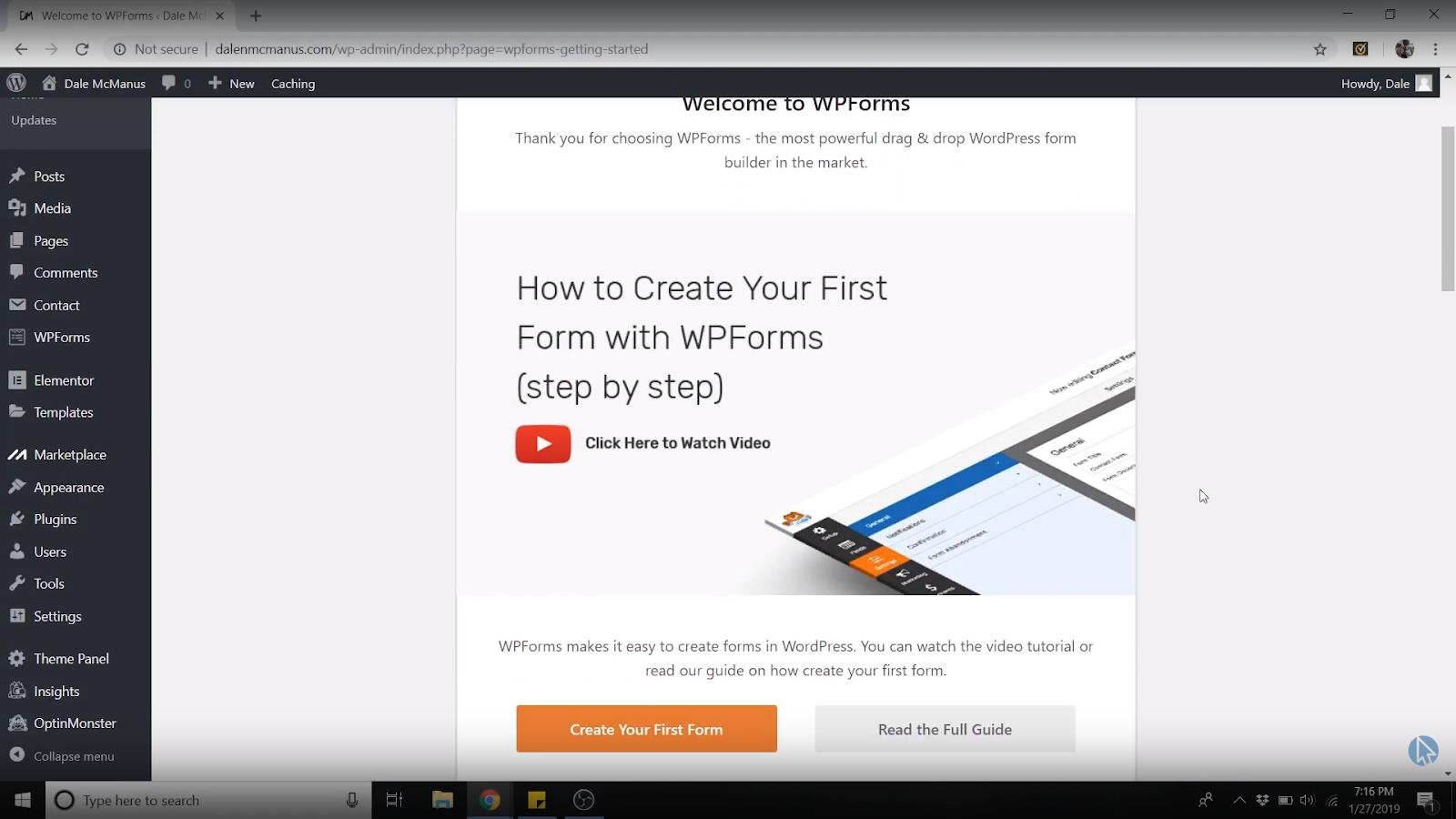 create wordpress contact form free