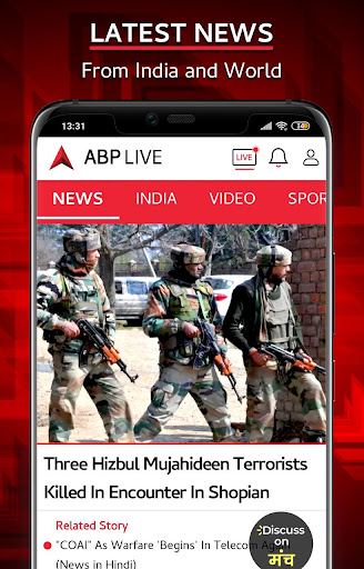 ABP Live TV News - Latest Hindi, Breaking News APP 1.9 screenshots 1