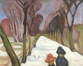 """Photo: Edvard Munch, """"Tempo di neve nel viale"""" (1906)"""