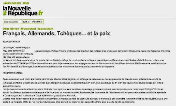Photo: 2014-04-12 NR Français, Allemands, Tchèques et la paix.