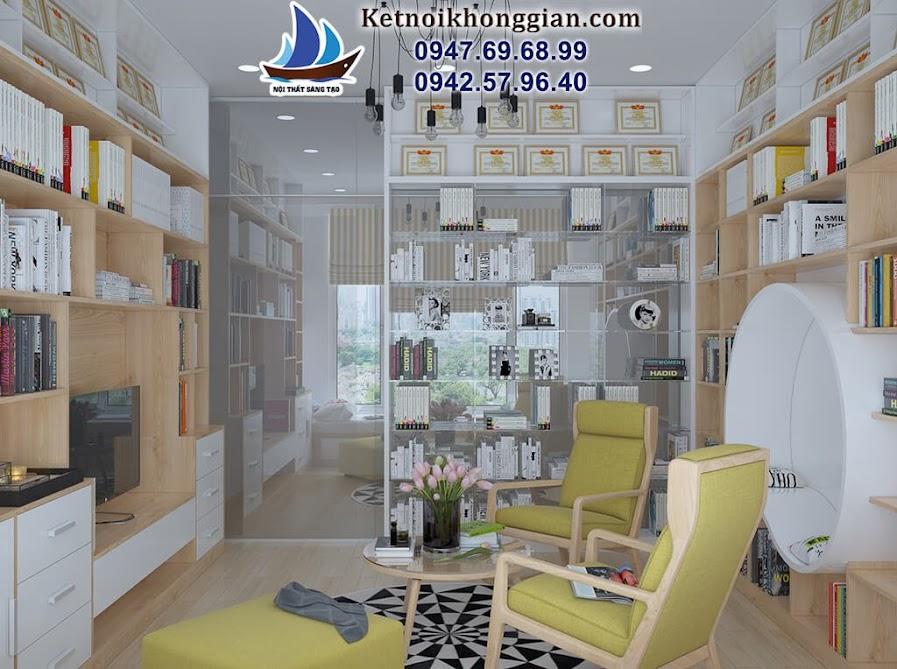 Thiết kế phòng đọc sách đẹp nhất Hà Nội
