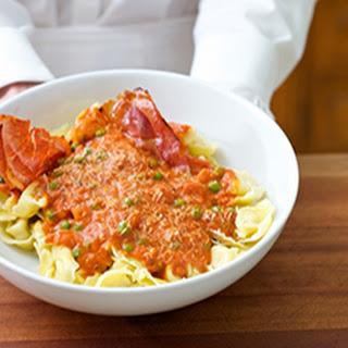 Tortellini Marinara with Baked Prosciutto Recipe