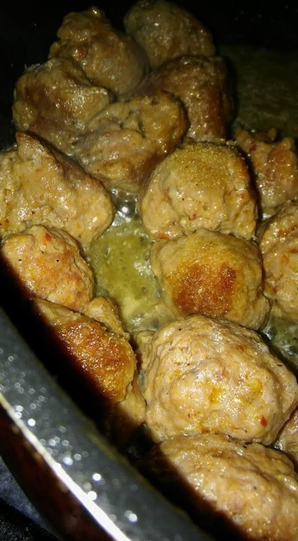 Form the Italian sausage into meatballs.  Fry in a skillet for 5 minutes,...