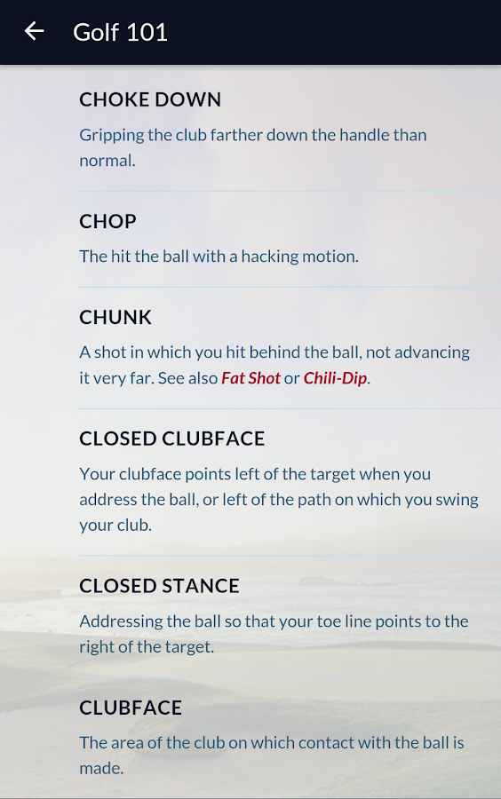 GOLF Fix Finder- screenshot