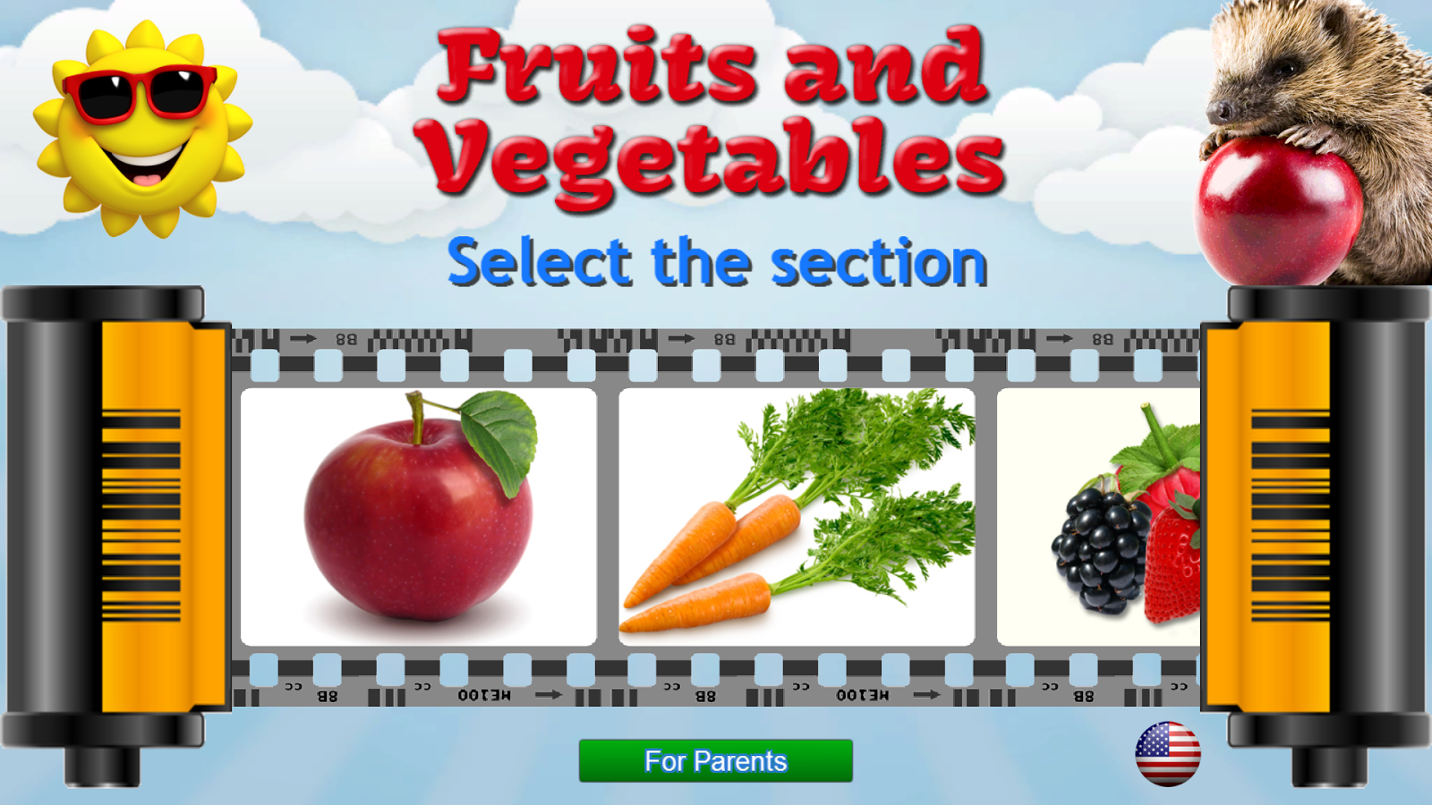 Fruits and Vegetables for Kids- tangkapan layar