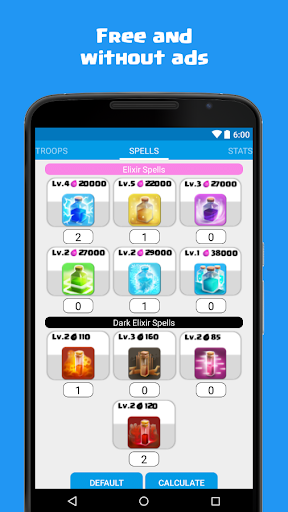 Calculator for Clash of Clans 1.5 screenshots 3