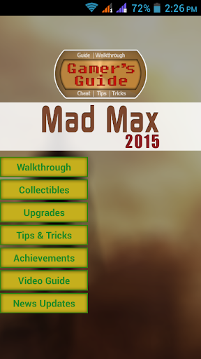 Gamer's Guide For Mad Max