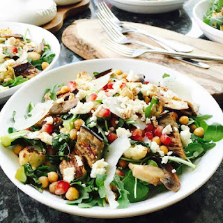 Cauliflower, Aubergine And Chickpeas Salad