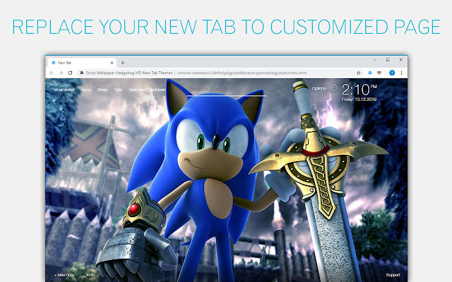 Sonic The Hedgehog Wallpaper HD Custom NewTab