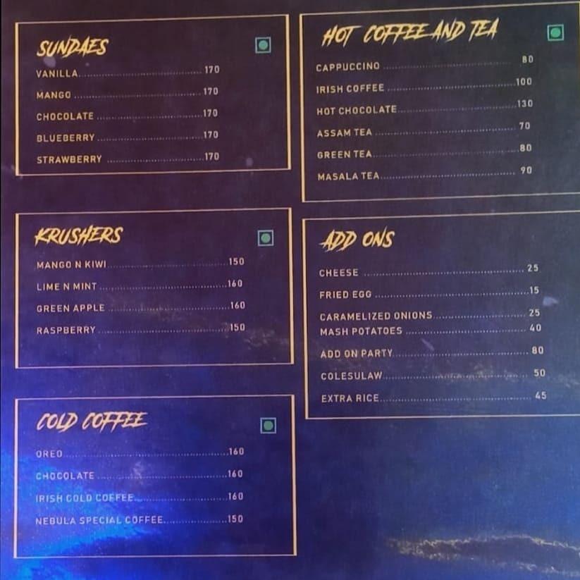 Nebula Cafe menu 5