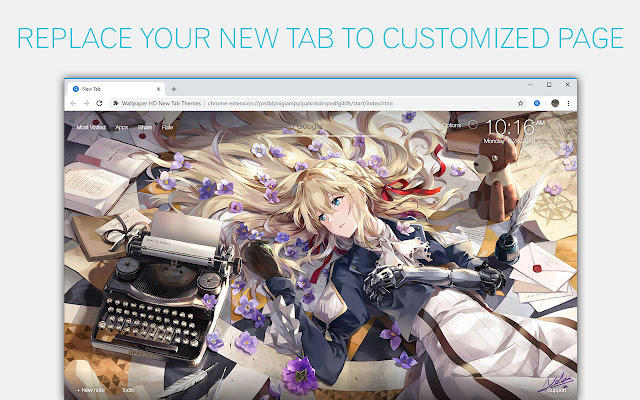 Violet Evergarden Wallpapers HD Anime New Tab