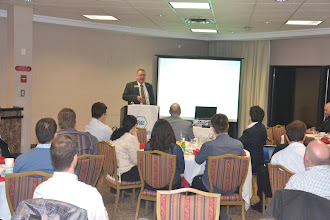 Photo: Speaker Bill Bahnfleth talking about Variable Primary Flow Chilled Water Systems