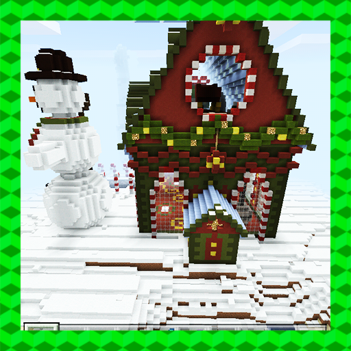 Tomb Crafter. Christmas riddle. MCPE map