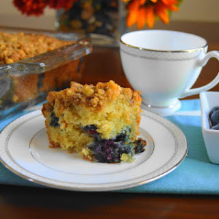 Blueberry Mascarpone Crumb Cake.