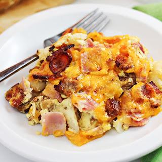 Cheesy 3-Meat Breakfast Casserole.