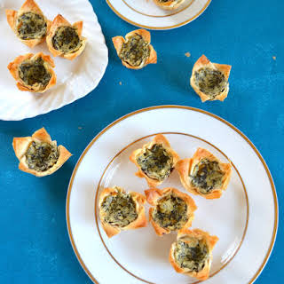 Spinach and Artichoke Phyllo Cups.