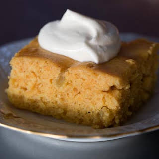 Pumpkin Cake with Whiskey Whipped Cream.