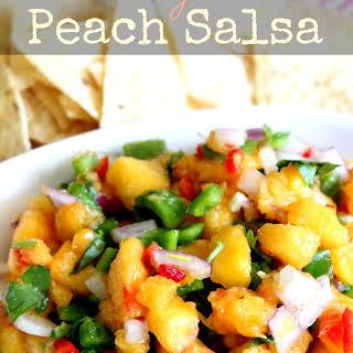 Clean Eating Peach Salsa.