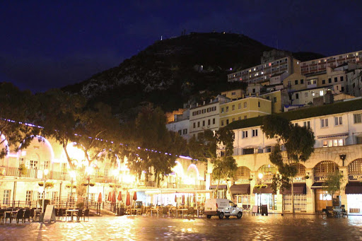 Stroll through Gibraltar and stop for refreshments at Casemates Square.