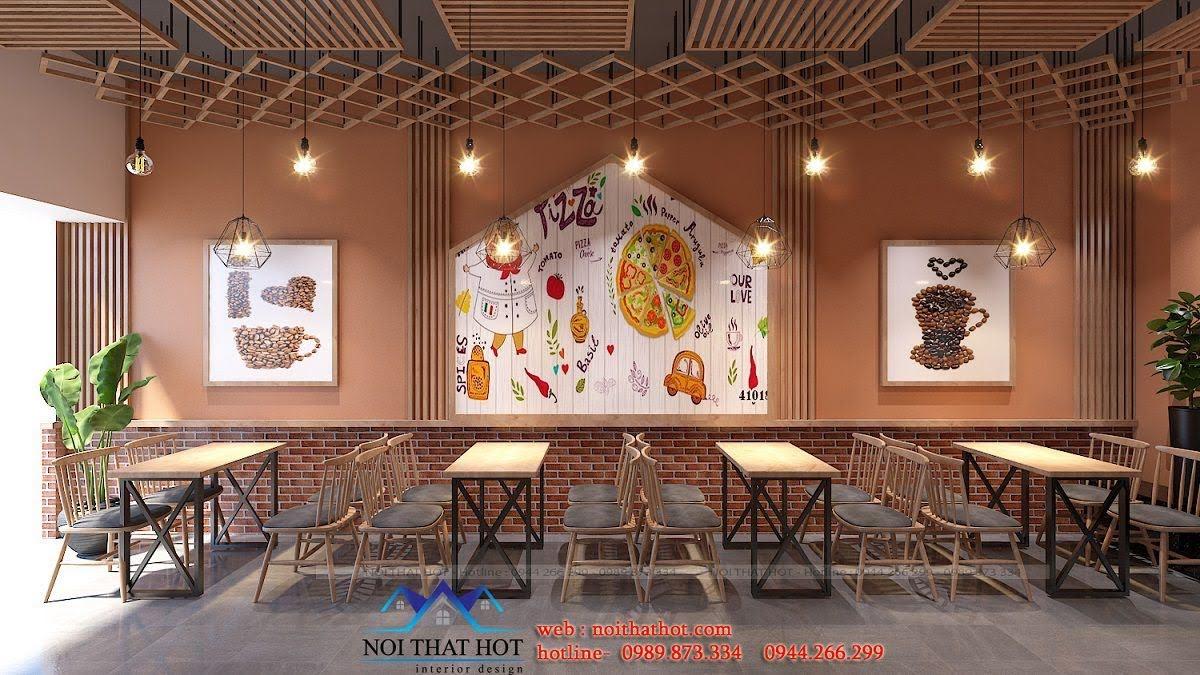 cách trang trí quán ăn