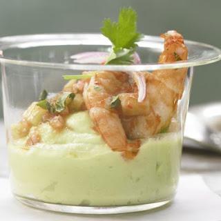 Spicy Shrimp with Avocado Cream