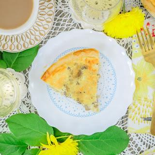 Cheese & Mushroom Quiche.