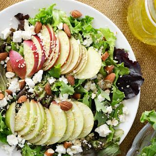 Apple Feta Salad with Toasted Sesame Seeds