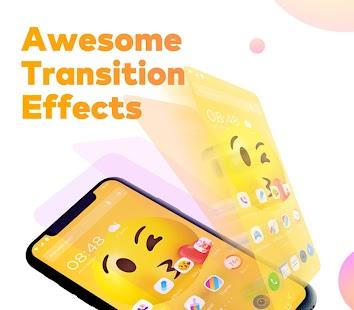 Pop Launcher - Black Emojis & Themes Screenshot