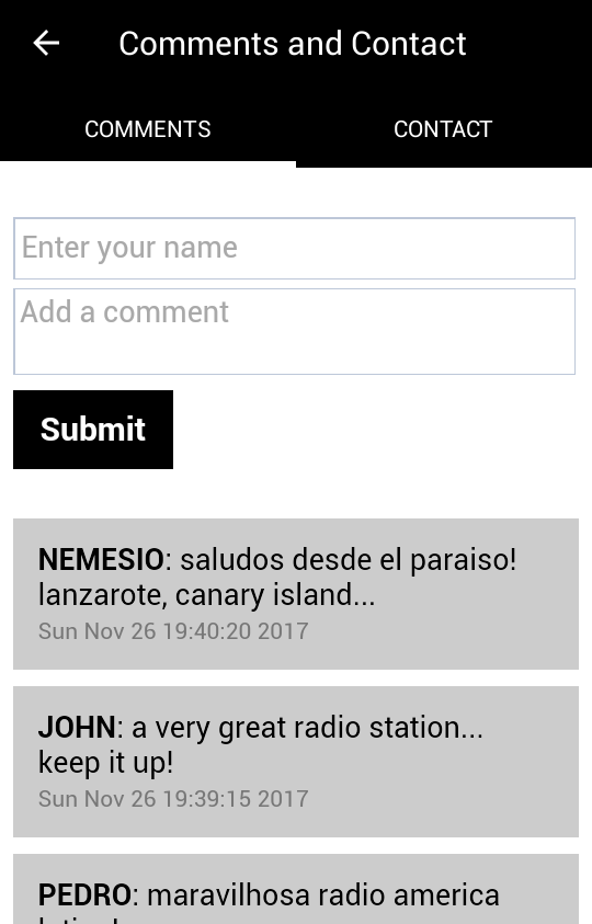 Radio America Latina- screenshot