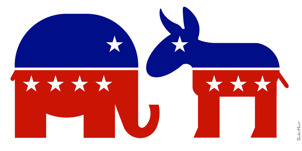 Republican Elephant & Democratic Donkey - Icons | Republican… | Flickr