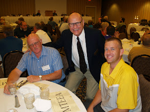 Photo: Randy Giles (left) has attended all 36 conferences. Ryan Giles (right) has been to 35.