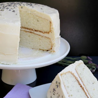 Lavender Cake with Lavender Cream Cheese Icing.