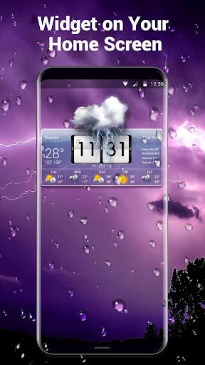 Sense Flip Clock Weather Widget  screenshots 1