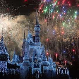 Holiday Wishes - New Years Eve Edition by Drew Selman - Public Holidays New Year's Eve ( walt disney world, december 2015, cinderella's castle, wdw, magic kingdom, lake buena vista, fireworks, castle, night, new years eve )