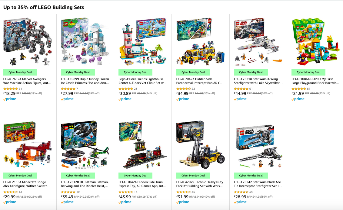 Lego Sets In Amazon Cyber Monday Sale Bricksfanz