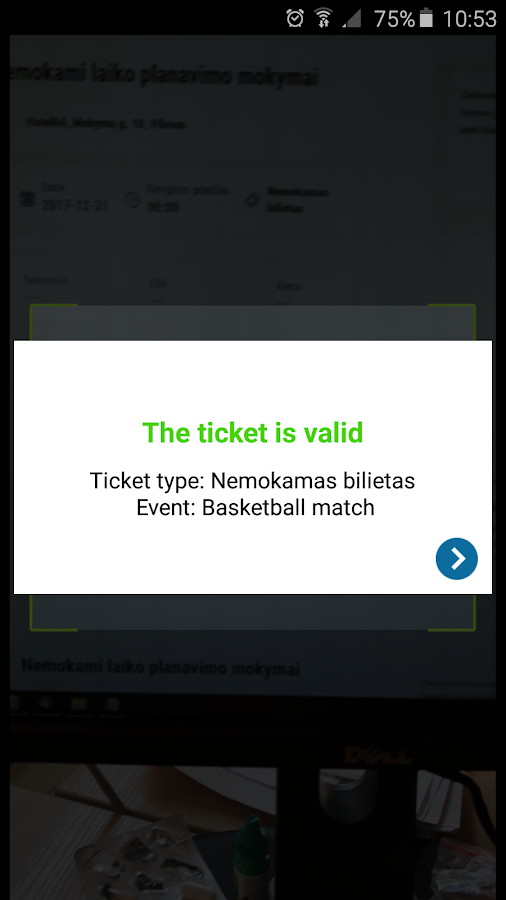 Paysera Tickets- screenshot