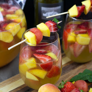 Summer Sangria with Peaches, Strawberries & Watermelon Recipe