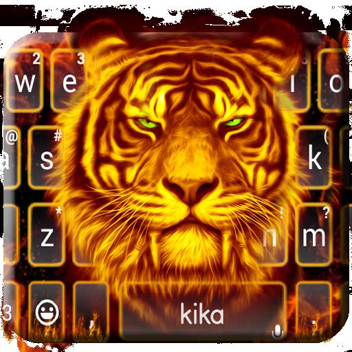 Flaming Tiger Keyboard Theme Icon