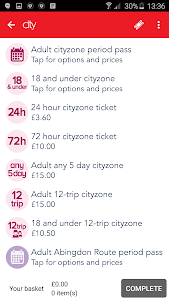 Oxford Bus and X90 m-Tickets screenshot 3